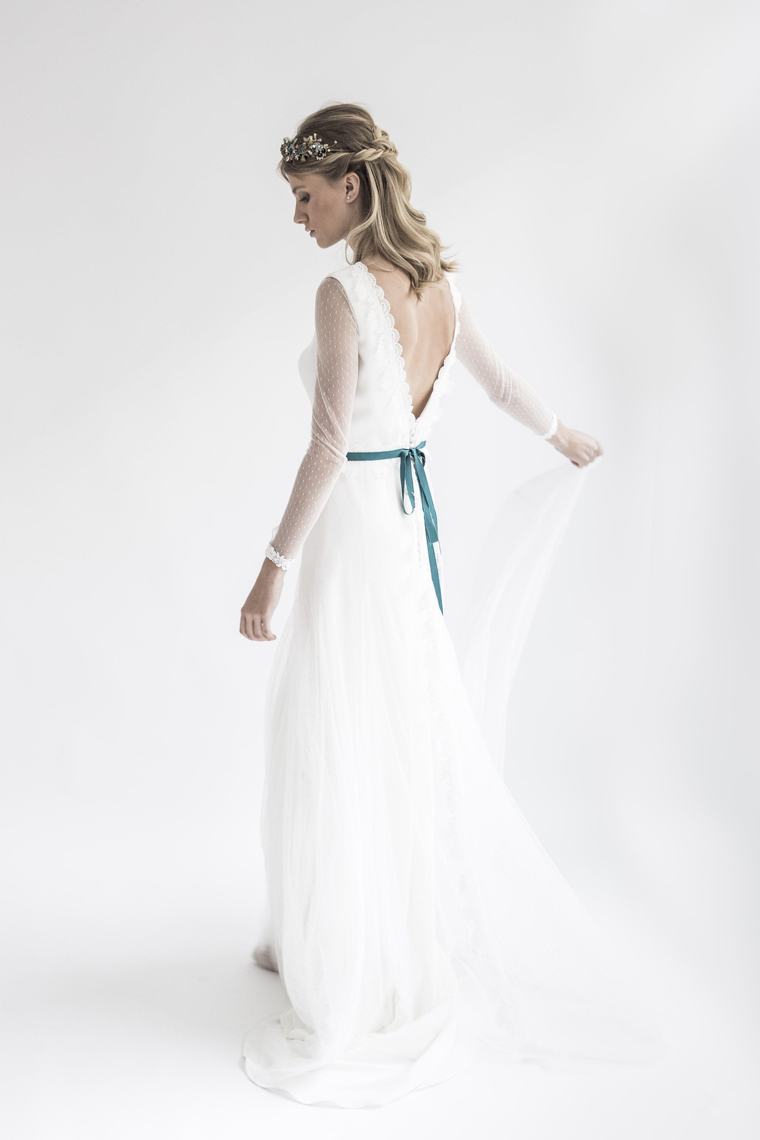 Vestidos de novia toque color