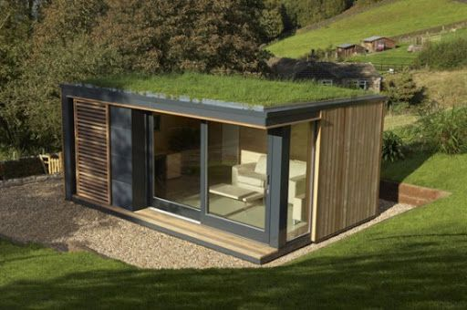 Minimalist Eco Friendly Garden Building Design Bhouse Gostevye Domiki Karkasnye Doma Dom