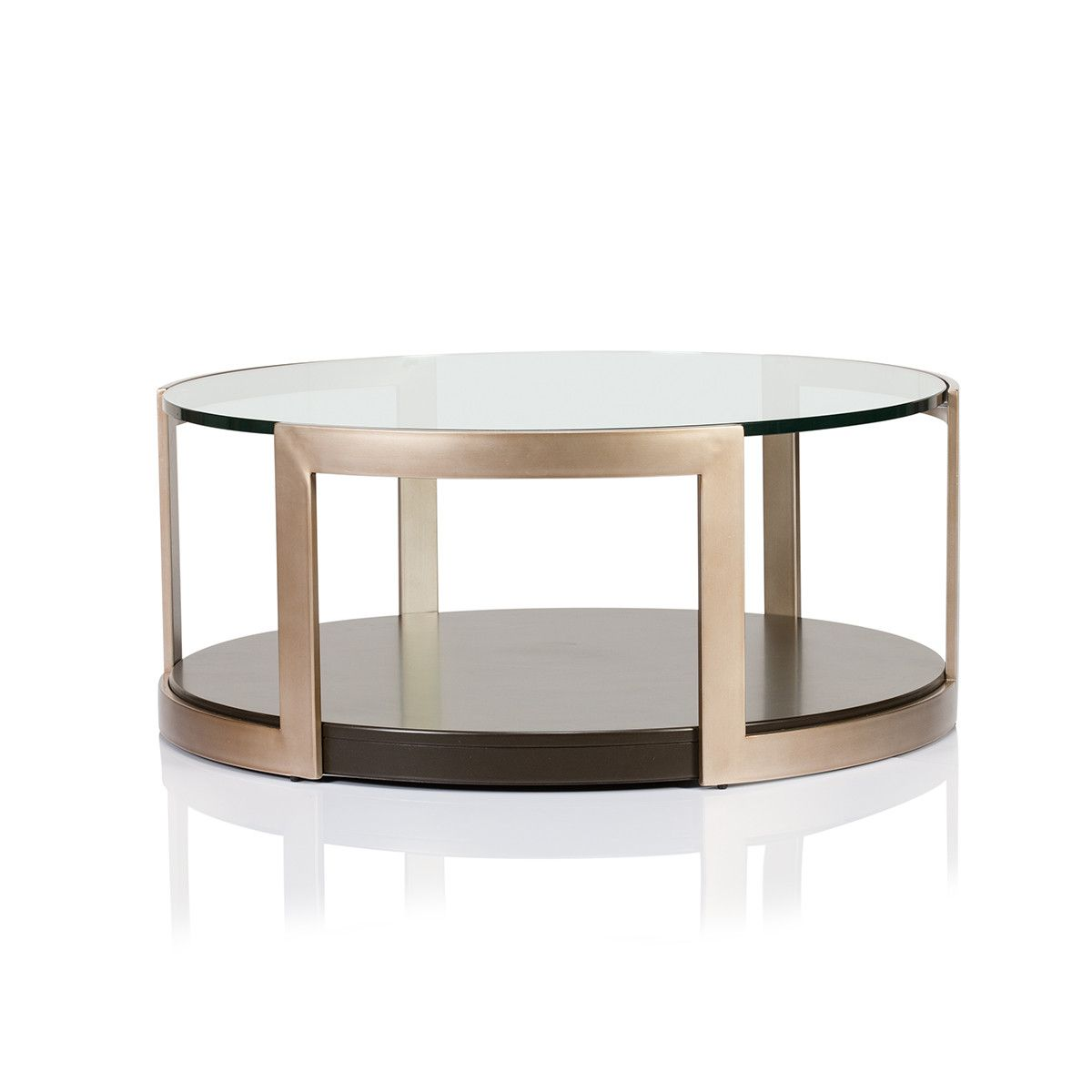 Low Metal And Glass Coffee Table