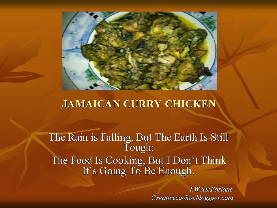 Jamaican Curry Chicken Food Thoughts Food Quotes And Jokes