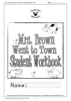 Mrs. Brown Went to Town Student Workbook (Houghton Mifflin