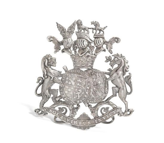 A silvered lead Duke of Norfolk armorial badge