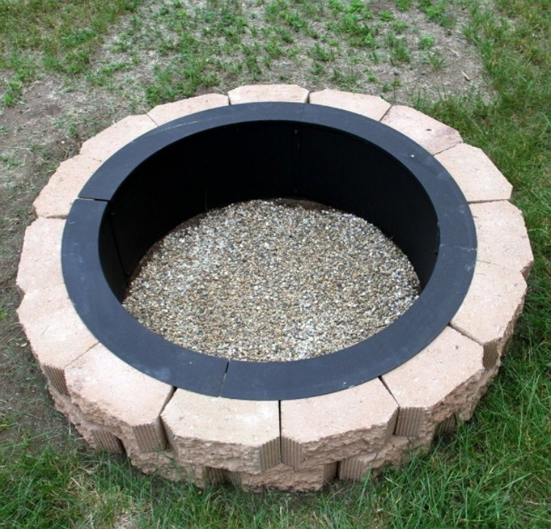 36 inch heavy duty fire pit ring liner diy fire pit above