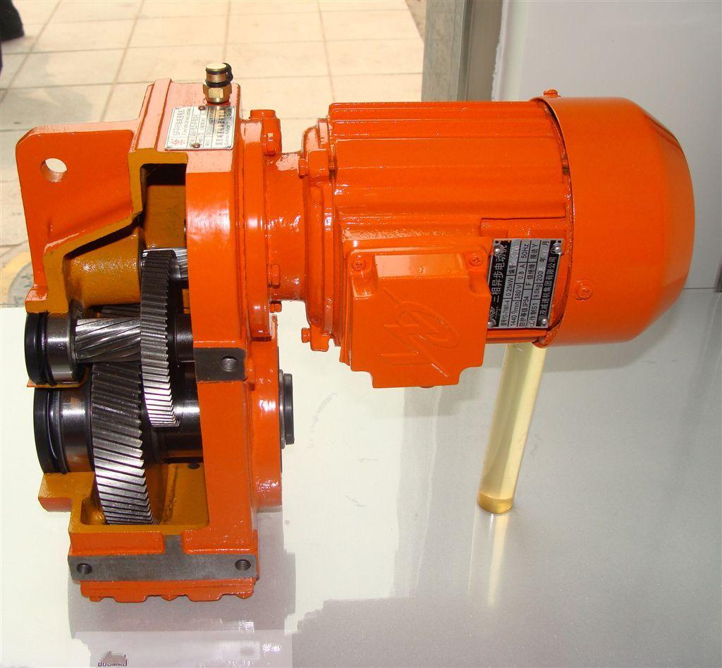 In line shafts helical gear motor