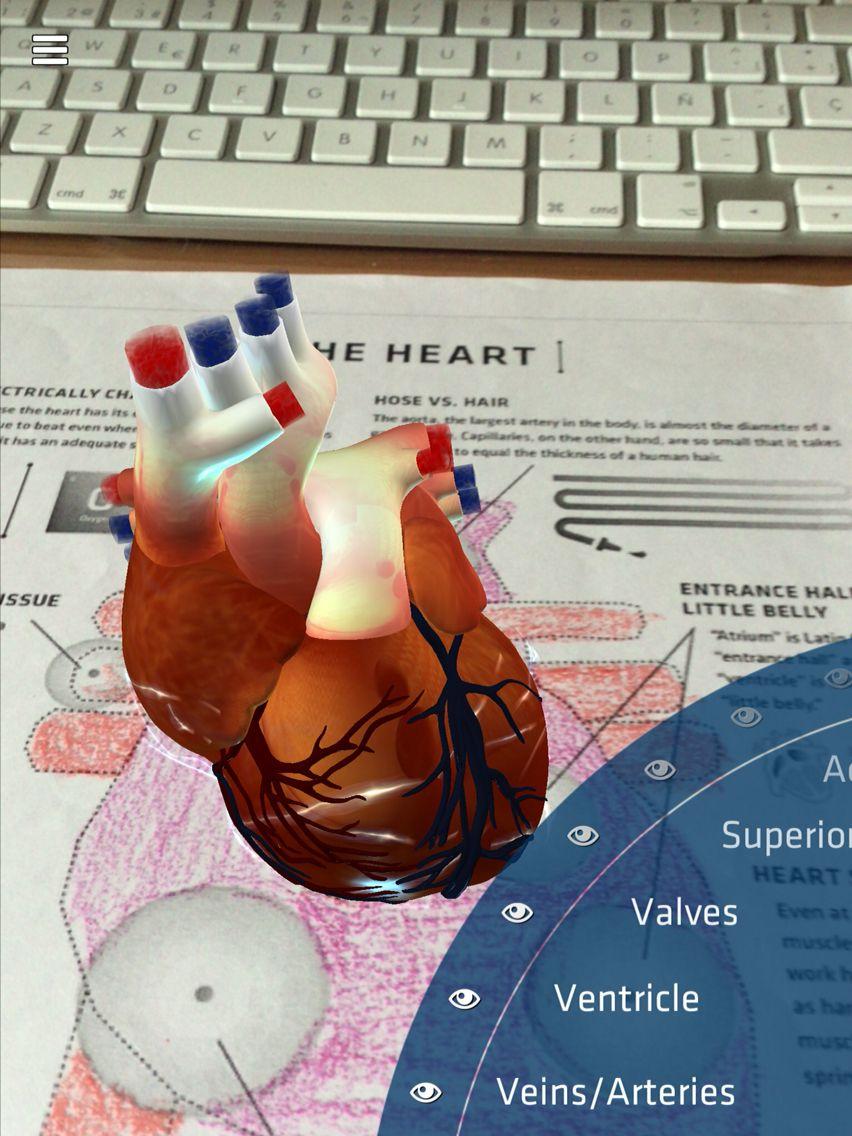 Corazón con RA. App Anatomy 4D | Realidad Aumentada en Educación ...