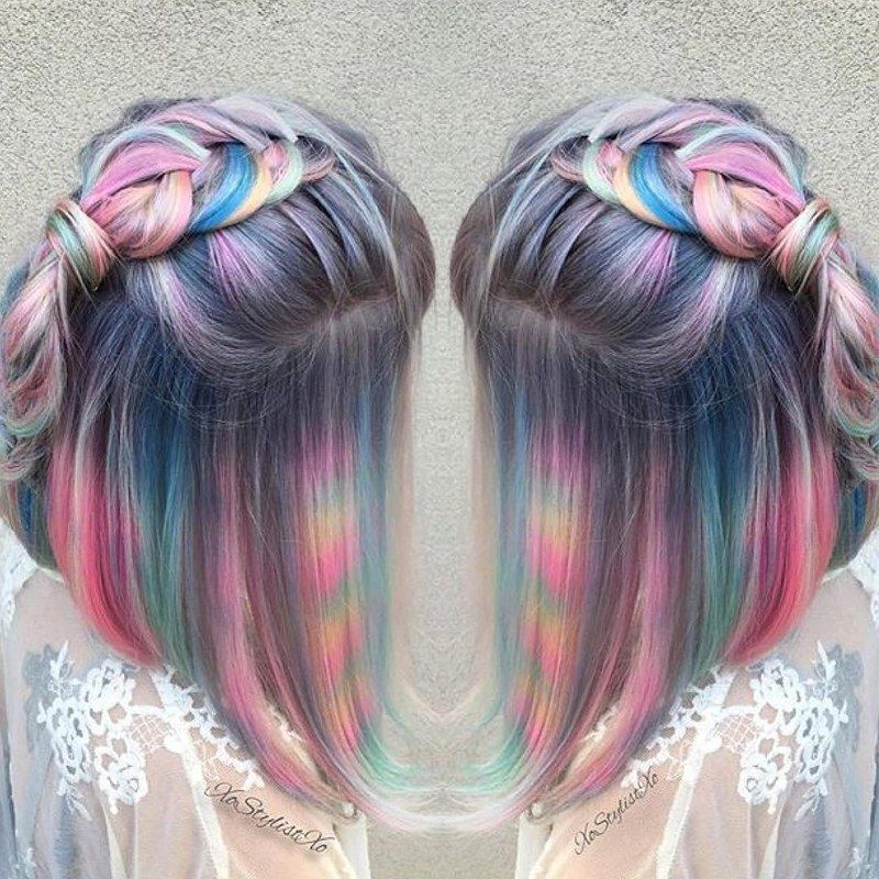 of tie-dye hair