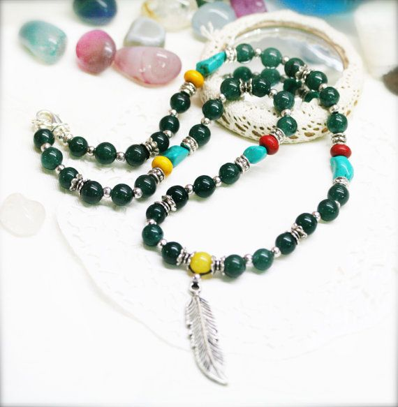 Essence of Wholesome mens necklace  jade turquoise by sophinegiam, $28.00