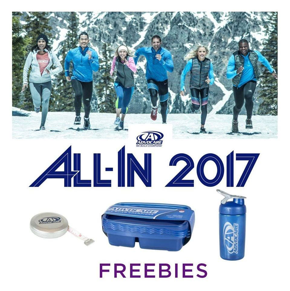 Your 2017 All-In order includes the full 24-Day Challenge® PLUS three food containers, a limited-edition BlenderBottle®, and an AdvoCare measuring tape! Order soon - these freebies are only available while supplies last. Don't forget - Free shipping ends December 20! Learn more: http://bit.ly/2hlU69F