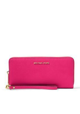 023862785b0c Michael Michael Kors Jet Set Travel Continental Wallet - Ultra Pink - One  Size