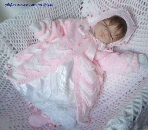 Petals Matinee Baby Knitting Pattern #71