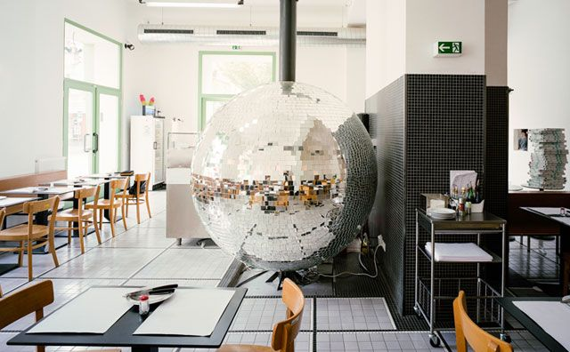 A Rotating Disco Ball WoodFired Oven Takes Centre Stage