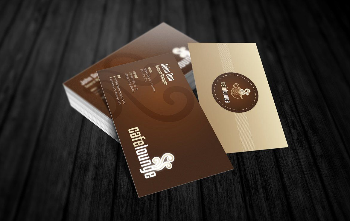 RW Cafe Lounge Hospitality Identity Compliment cards
