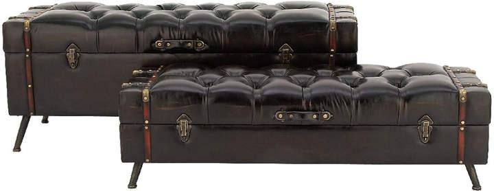 Astonishing Trunks Uma Enterprises Set Of 2 Storage Leather Storage Ibusinesslaw Wood Chair Design Ideas Ibusinesslaworg