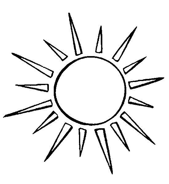 Dibujo para colorear Estrellas Sol Luna | sol | Pinterest | Soleil ...