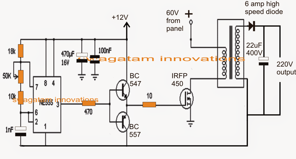 electronic circuit projects  solar 3 phase inverter circuit