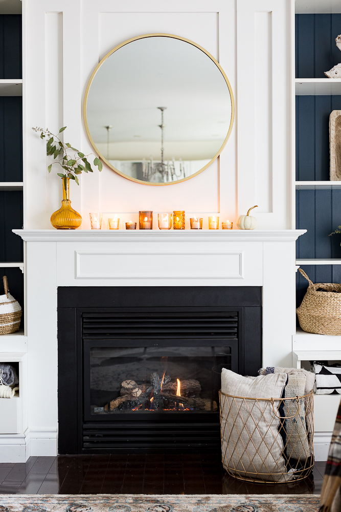 Fall Mantel Three Ways