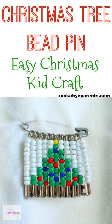 Christmas Tree Bead Pin - An Easy Christmas Kid Craft