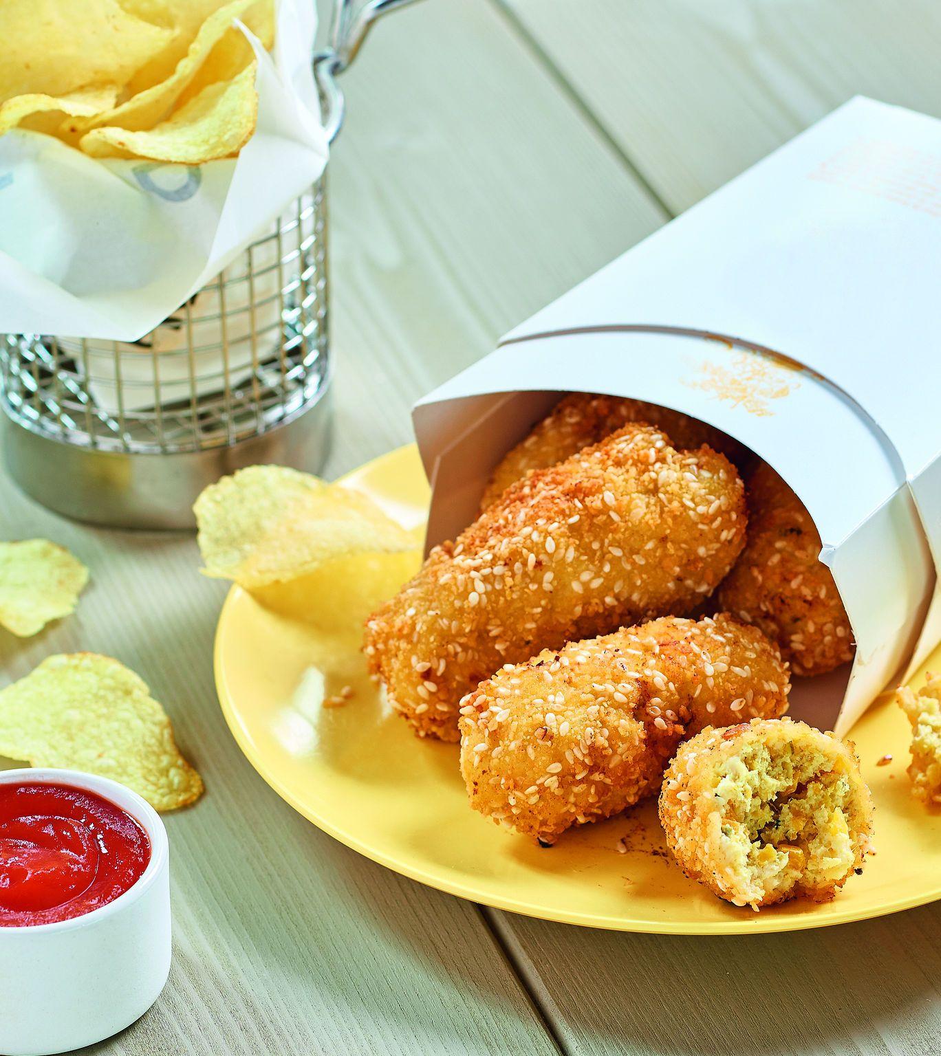 Nug s de poulet aux légumes recette issue de Cookidoo