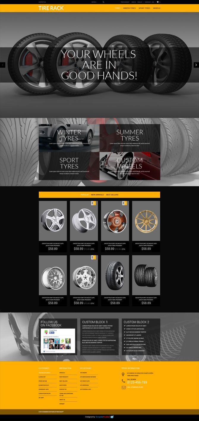 FREE Wheels & Tires PrestaShop Template http://www.templatemonster ...