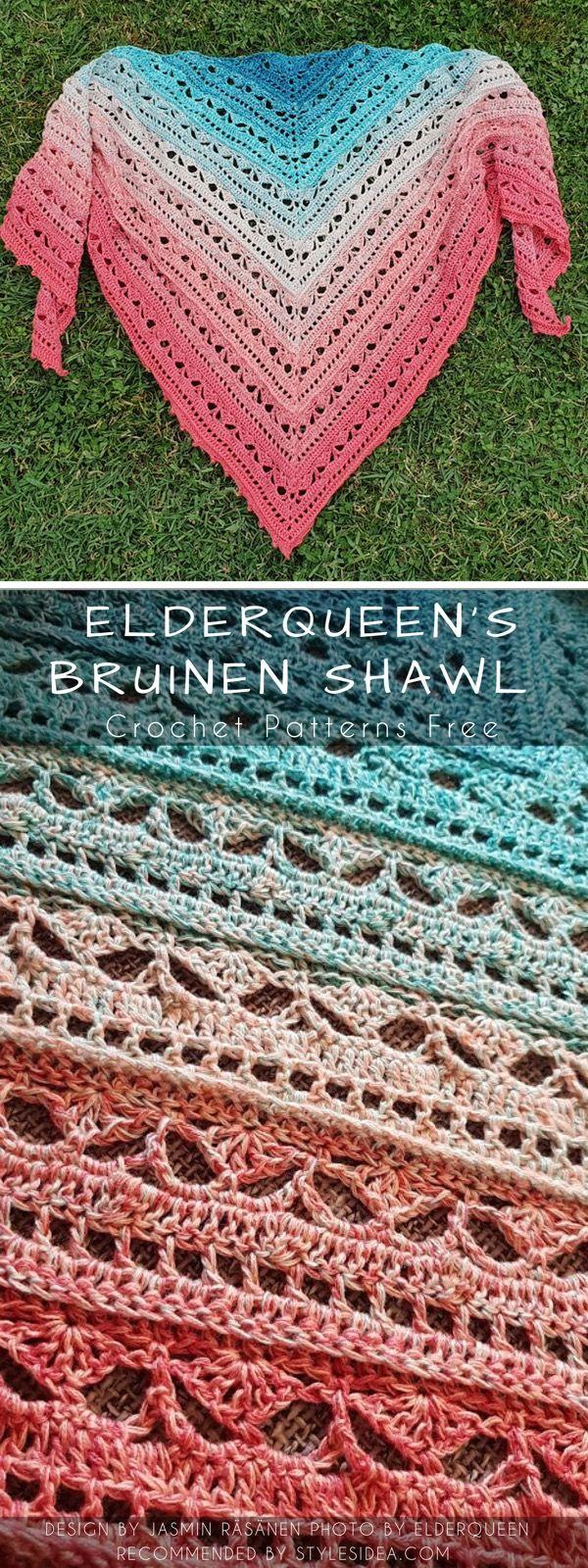 Bruinen Torso Crochet Shawl Free Pattern Häkeln Pinterest