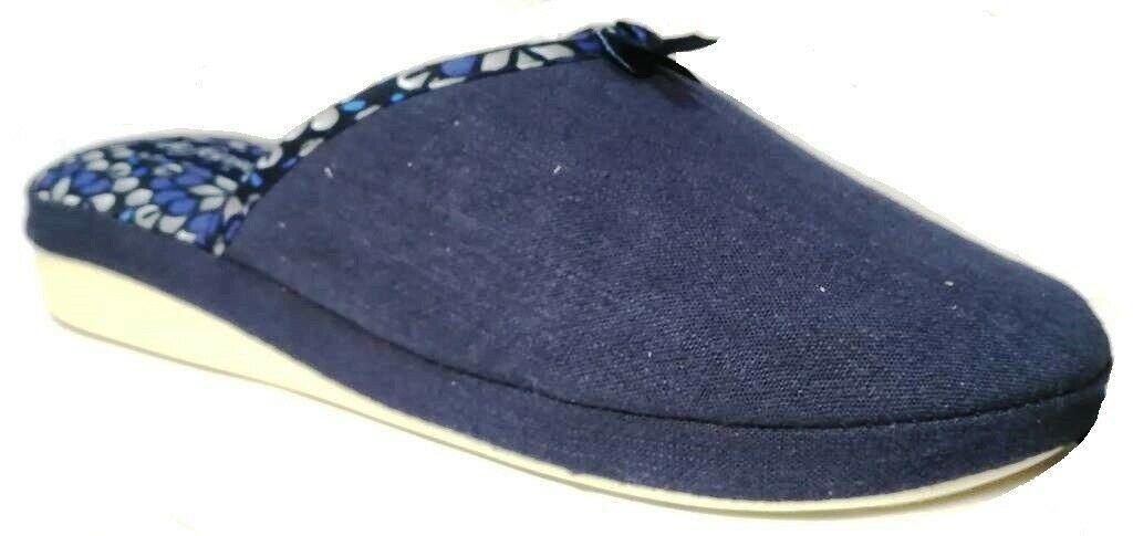 Photo of DE FONSECA ciabatte pantofole donna cotone mod. VERONA E W611 blu slippers  – Sc…