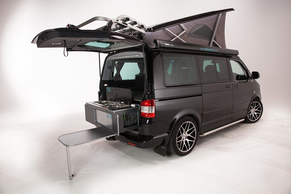 Used Vans For Sale Near Me >> Slidepods are a way to add a rear campervan kitchen pod to ...