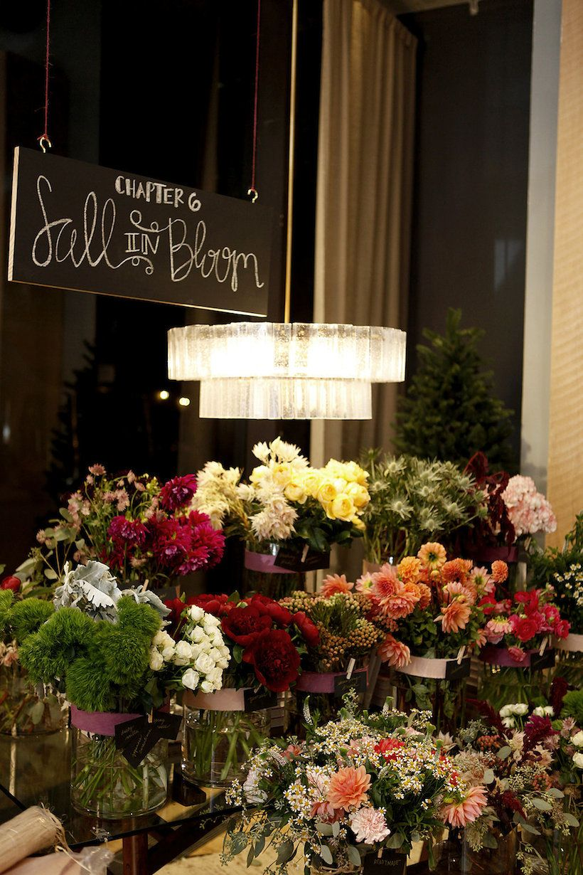 Oh what a night seasonal flowers floral centerpieces and favours build your own bouquet station westelmnyc in honor of camillestyles oh izmirmasajfo