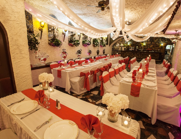 Our Party Room Pricing Is Quite Affordable So That Anyone On A Budge Wedding Rehearsal Dinner Decorations Rehearsal Dinner Decorations Wedding Reception Tables