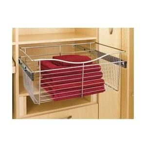 Rev A Shelf Rscb 181611sn 5 18 Inch X 16 Inch X 11 Inch Wire Pull Out Closet Baskets Satin Nickel Rev A Shelf Deep Closet A Shelf