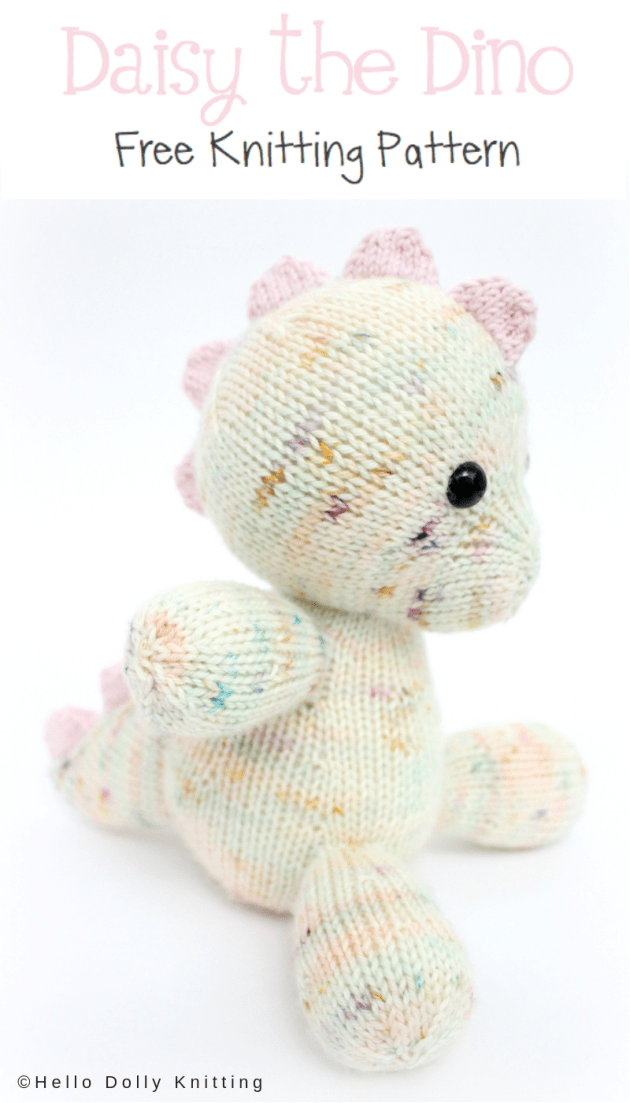 Free Knitting Pattern – Daisy the Baby Dino PDF Knitting Pattern