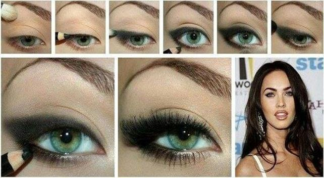 Tutorial Megan Fox Eye Shadow Megan Fox Makeup Fox Makeup Fox Makeup Tutorial