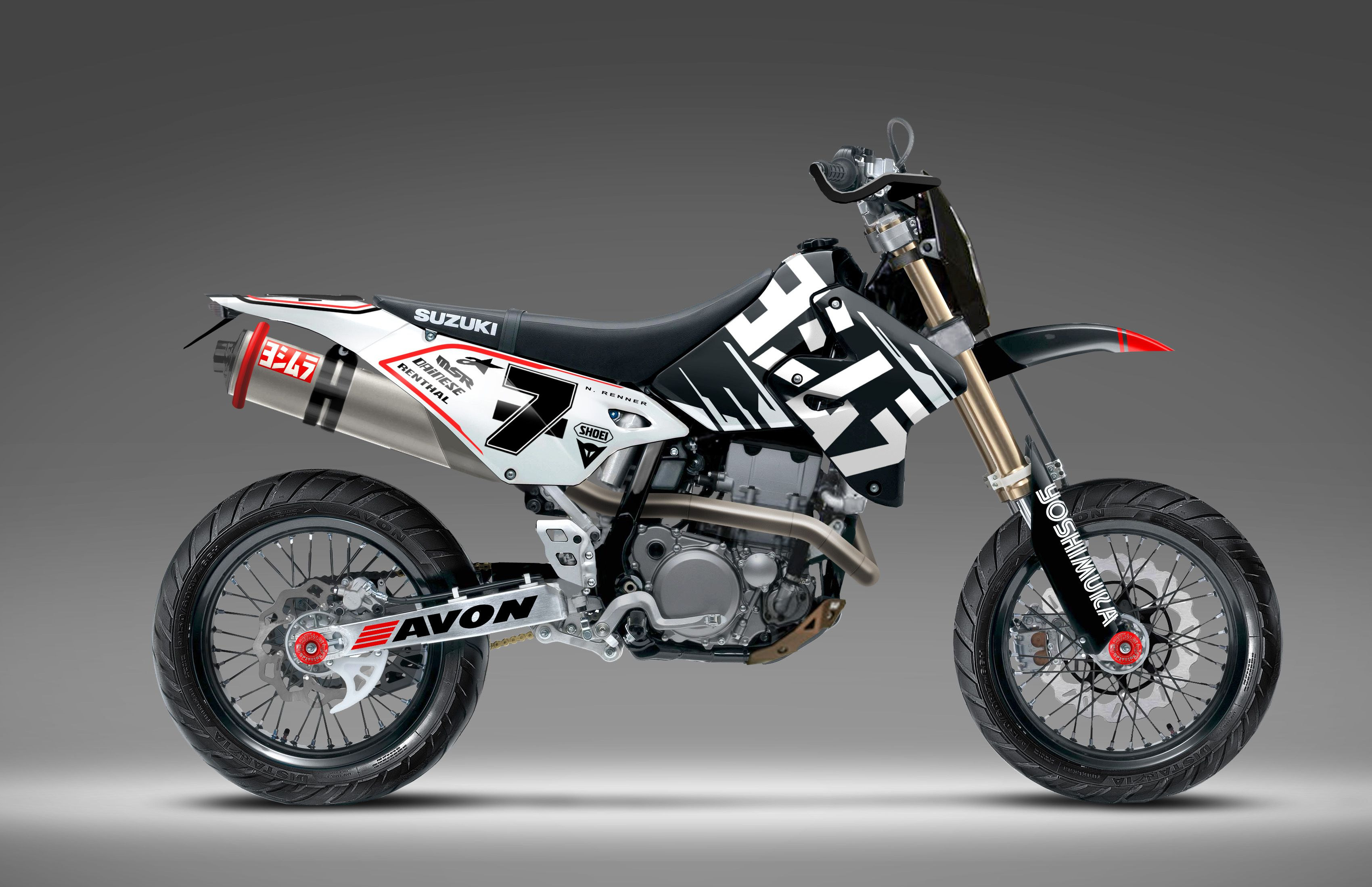 Drz400 モトクロス モタード スーパーバイク