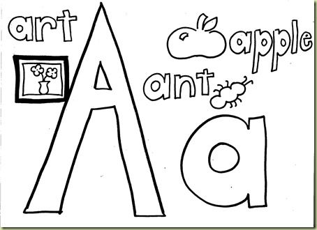 free alphabet coloring pages printable homeschool - Letter A Coloring Pages Printable