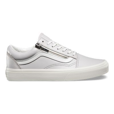 362032124b1 Shop Leather Old Skool Zip Shoes today at Vans. The official Vans online  store. Free delivery   free returns.