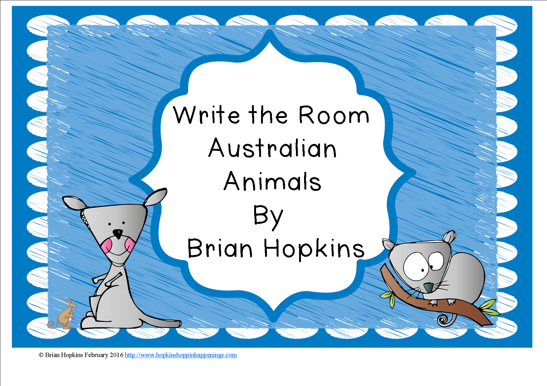 Write The Room Australian Animals Beginning Sounds Is