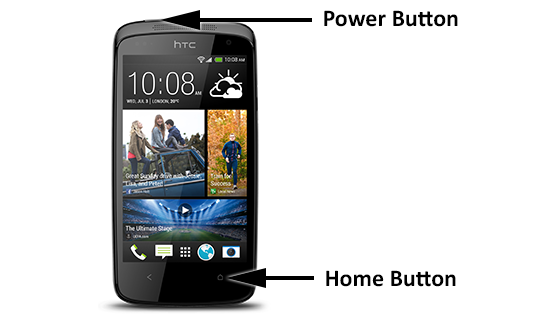 How to take a screenshot on the HTC Desire 500   Htc ...