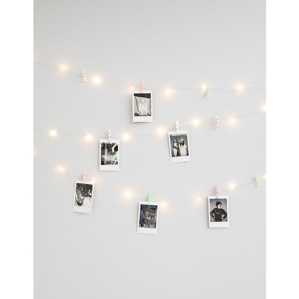 Iridescent mini clip string lights featuring polyvore home iridescent mini clip string lights featuring polyvore home outdoors outdoor lighting outdoor mozeypictures Images