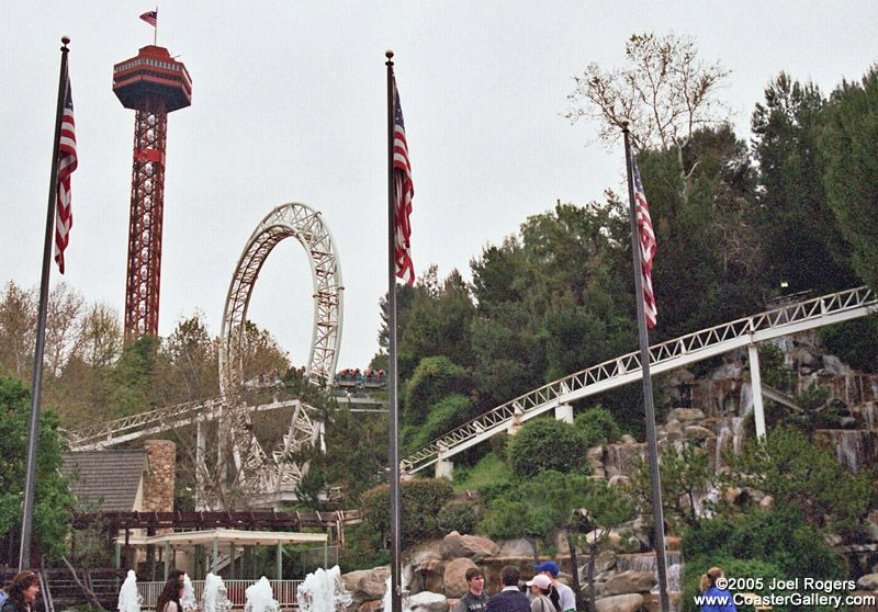 Revolution Six Flags Magic Mountain Roller Coaster Favorite Places American Revolution