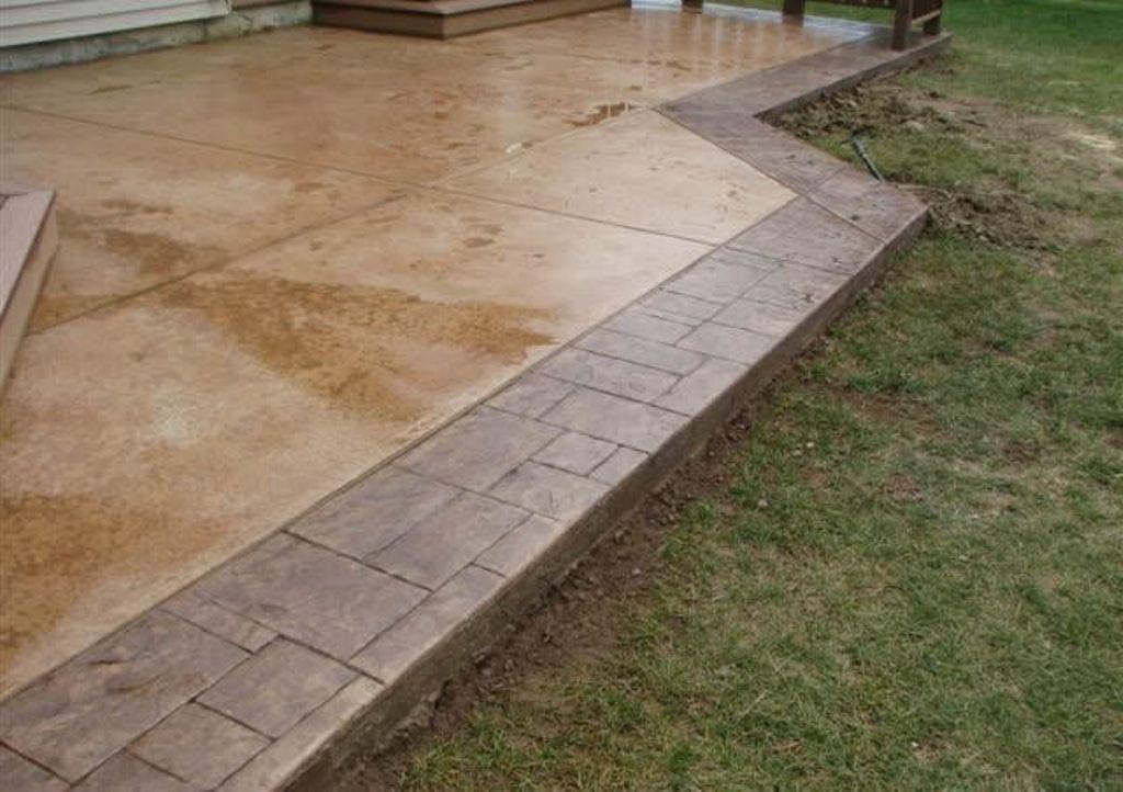Outdoor Concrete Patio Back Patio Ideas Pictures Concrete