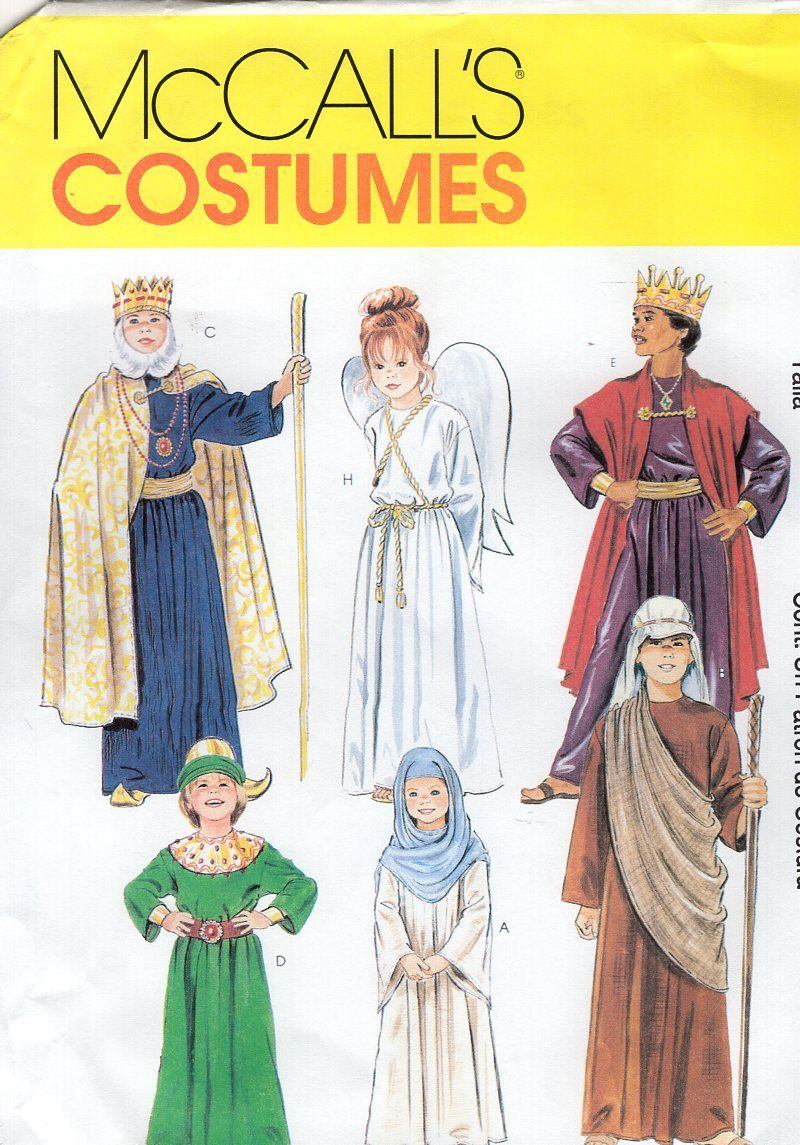 Free Us Ship Sewing Pattern McCall\'s 2340 Childs Costume Christmas ...