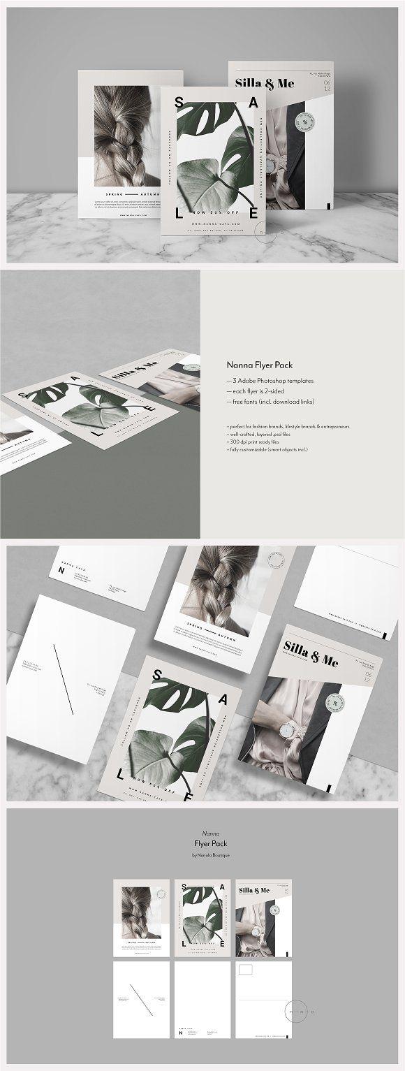 3 Lifestyle Postcard Flyers • Nanna | Carteleria, Terrarios y ...