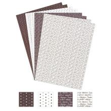 Papier imprimé Bonheur - Taupe | Azza - Leader du scrapbooking