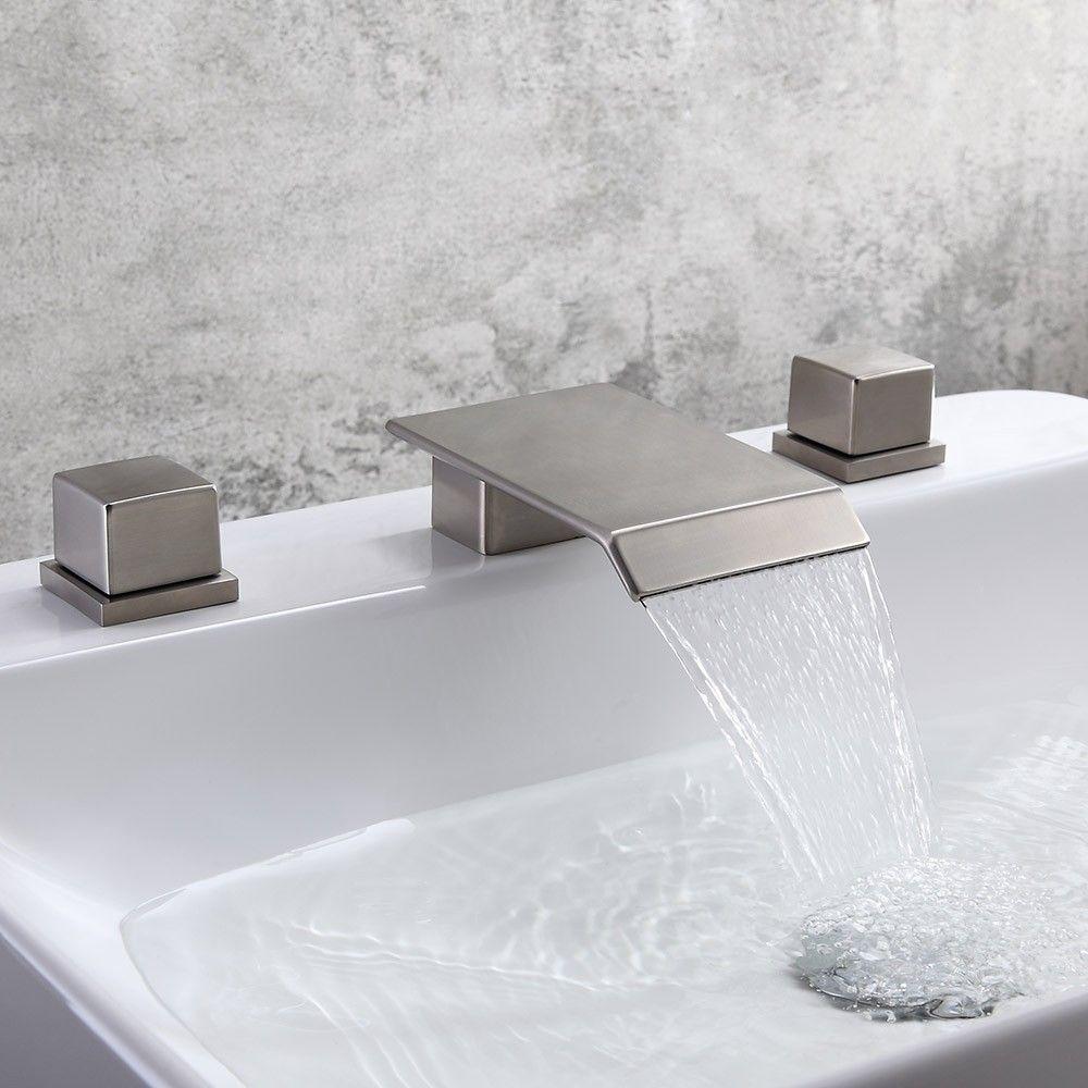 Watersense Certified Waterfall Faucet From Danze Kohler Bathroom Faucet Faucet Design Bathroom Faucets Waterfall