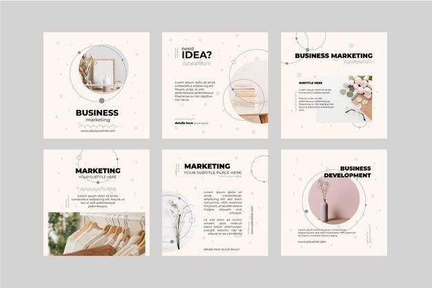 Marketing Business Instagram Posts Collection