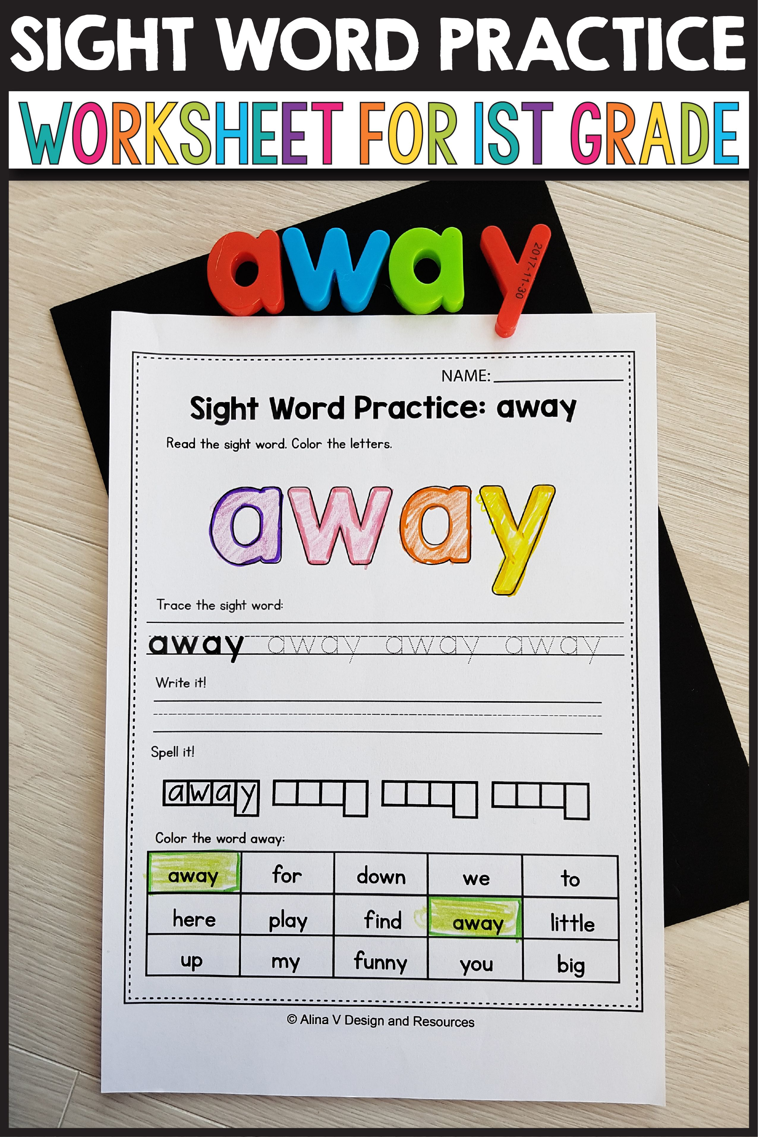 Sight Word Activities 1st Grade Sight Word Practice