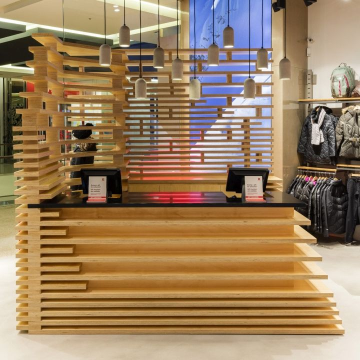 Retail Store Storage Furniture Design Of Mud Australia: The North Face Bondi Junction Store By CoMa