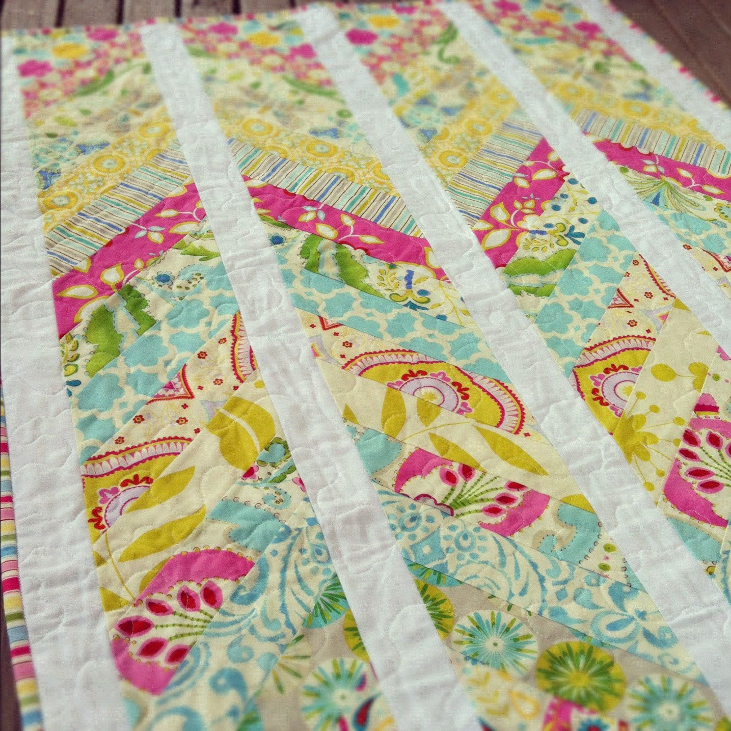 Custom Handmade Chevron Modern Cot Crib Patchwork Quilt in your ... : make your own patchwork quilt - Adamdwight.com
