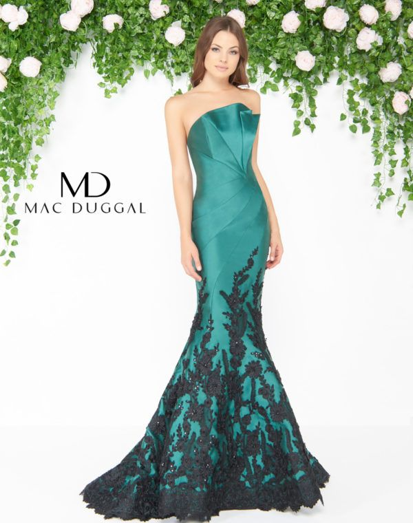 b0cde15ecd27 Couture by Mac Duggal An Affair to Remember LaGrange GA. mermaid ball gown  with floral applique