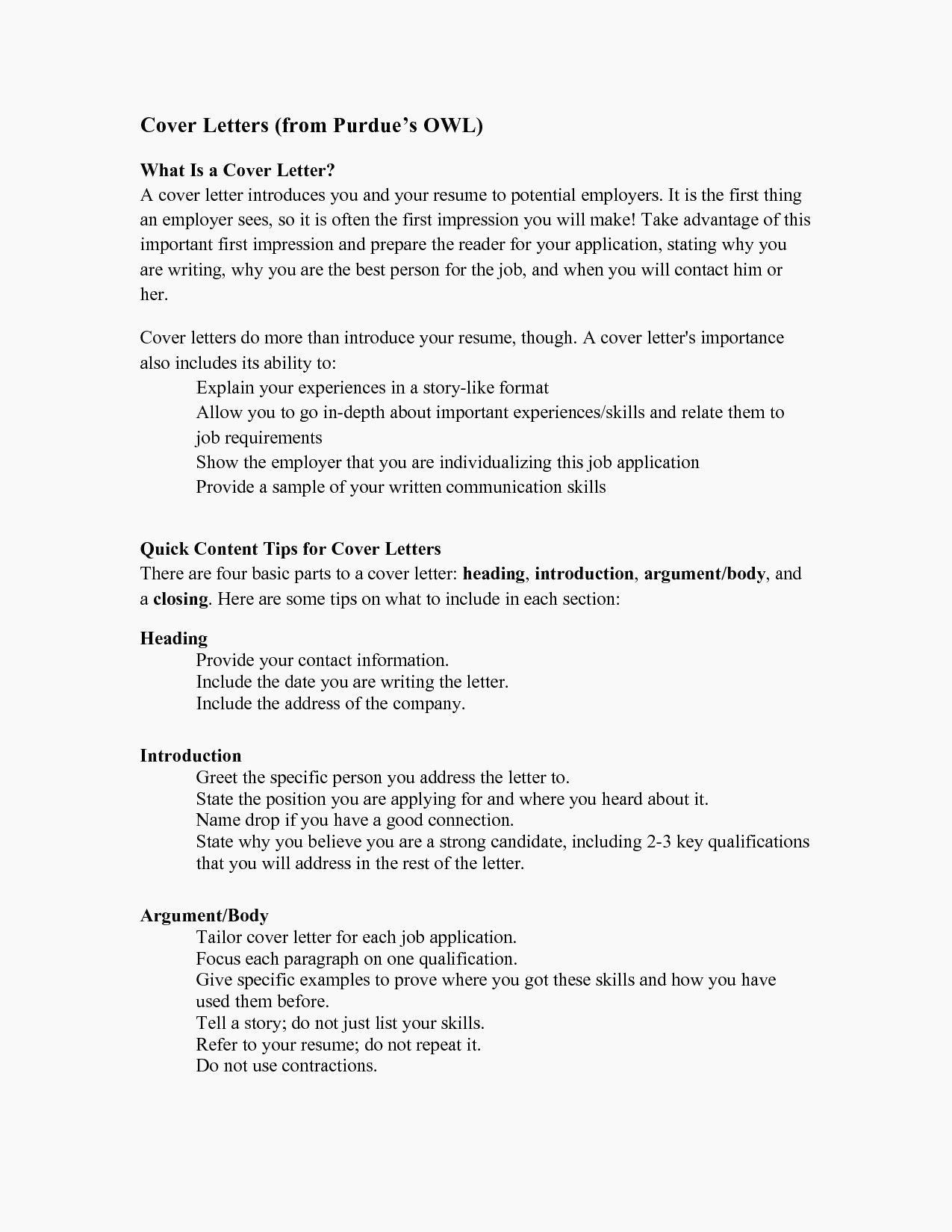 Resume Format Purdue Owl Lettering Cover Letter Template