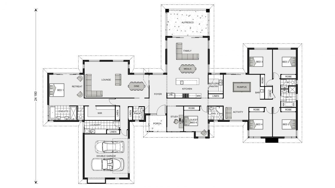 Pin By Kim Saeryoung On Domy House Plans Australia 6 Bedroom House Plans Luxury House Plans